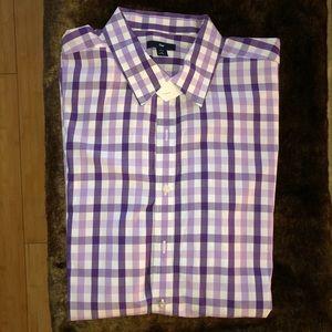 Purple Plaid Button Down Shirt